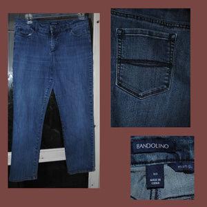 BANDOLINO Mandie Stretch Jeans Size 14 Short